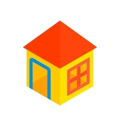 Toy house isometric 3d icon vector