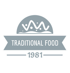 Traditional food logo simple gray style vector