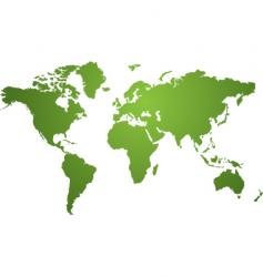 world map green vector image