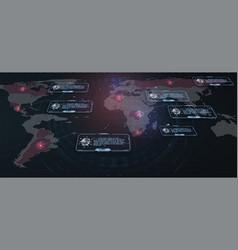world virus gui in hud style spreading virus vector image