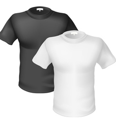 Black and white tshirt front view vector