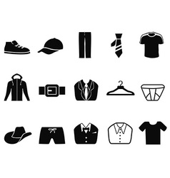 Black Men fashion icons set vector image vector image