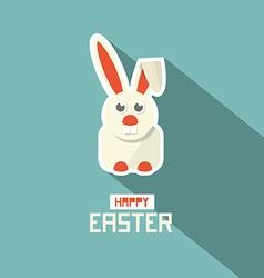Retro Easter Paper Flat Design Bunny vector image vector image