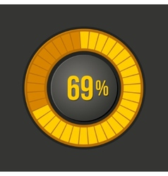 Ring Loading Progress Bar on Dark Background vector image vector image