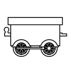 Silhouette wagon train toy icon vector