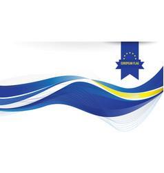 European flag background vector