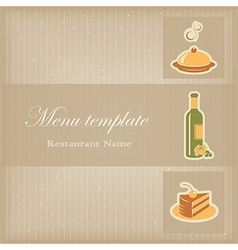 Food menu template vector image