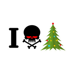 i hate christmas skull and bones symbol of hatred vector image