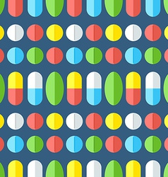 Medicines seamless pattern vector image