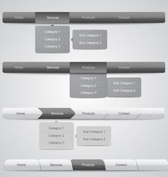 Navigation Menus for Website vector image