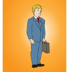 Office man with attache vector