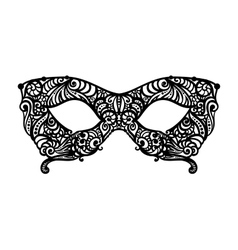 patterned masquerade Mask vector image