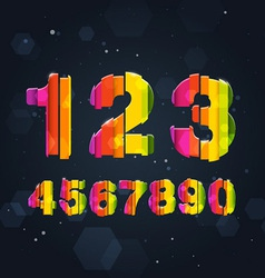 Abstract Rainbow Numbers vector image