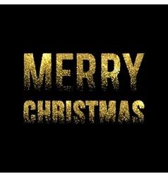 Christmas Card Gold Sparkles on Black Background vector image