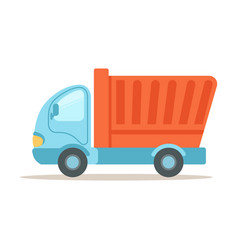 dump truck construction machinery equipment vector image