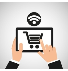 e-commerce online wifi icon vector image
