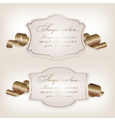 Romantic label with ribbon vetor vector image vector image