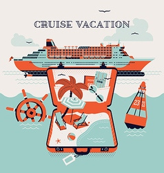 Vacation on a Cruise vector image
