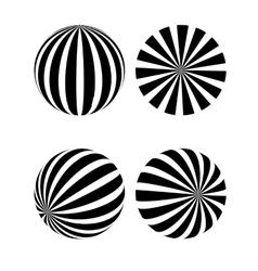 A black and white sphere vector