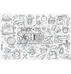 a large set hand-drawn doodles back to vector image