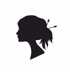 Abstract black silhouette woman vector