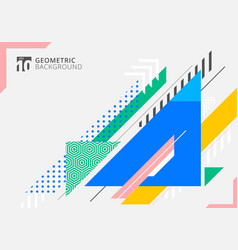 abstract colorful geometric triangles shape vector image