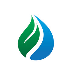 Abstract leaf waterdop logo vector