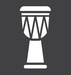 african djembe drum glyph icon music vector image