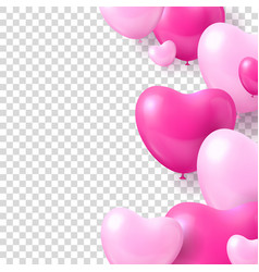 air balloons form hearts transparent background vector image
