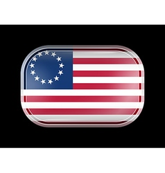 American Betsy Ross Flag Rectangular Shape vector