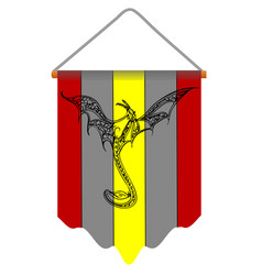 Antique banner with dragon vector