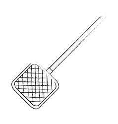 Aquarium cleaning net icon vector