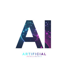 artificial intelligence logo artificial vector image