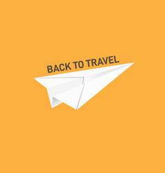 Back to travel conceptual vector