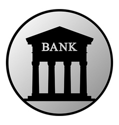 Bank button vector image