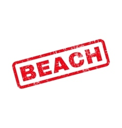 Beach Text Rubber Stamp vector