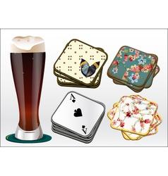 Beer coasters vector