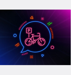 bicycle parking line icon bike park sign vector image