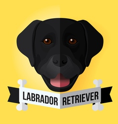 Black labrador vector