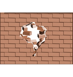 breaking walls vector image