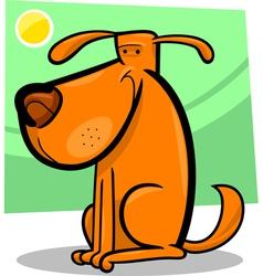 cartoon doodle of cute dog vector image