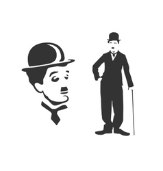 Charlie Chaplin vector image vector image