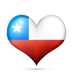 Chile Heart flag icon vector image