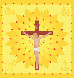Christ church background full colored vector