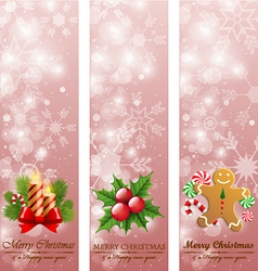 Christmas vintage vertical banners vector image