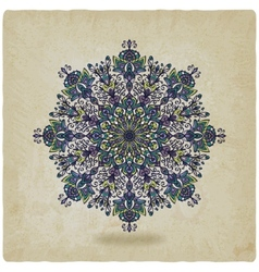 circular pattern mandala old background vector image