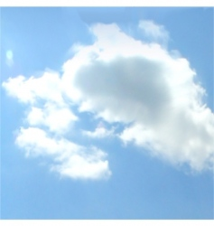 cloudy sky background vector image