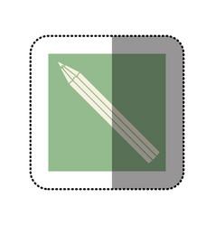 Color sticker square with pencil icon vector