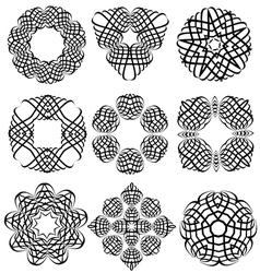 Decorative ornamental frame elements vector