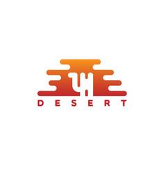 desert logo vector image